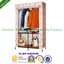 PE Non-Woven Fabric Folding Cupboard Portable Wardrobe (LD-120Z)