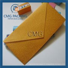 Enveloppes d'affaires d'or de haute qualité Enveloppes d'invitation