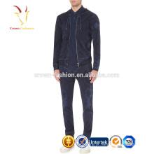 Zipper do hoodie de 2016 homens novos cardigan impresso da camisola de caxemira 100% pura