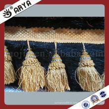 Hot Sell White Tissel Tassel Trimelings, Tassel Fringe Coton Tassels Inde
