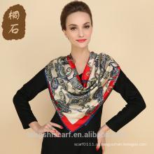 SA429 шелк парео принт логотип шелковый шарф 100% шелк хиджаб шали и scarvessupplier alibaba Китай