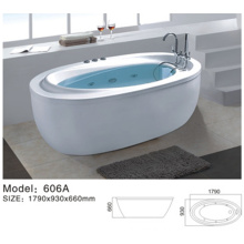 Luxury oval shaped acrylic frees standing bath tubs for relaxing spa