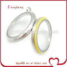 Supplier yellow color stainless steel necklace locket