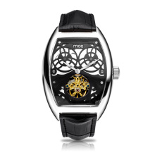 sapphire crystal band buckle blank case skeleton watch