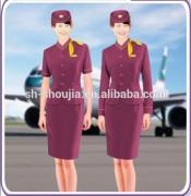 fashion airline stewardess uniform for women/men