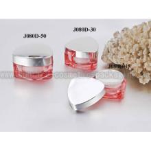 15ml 30ml 50ml triángulo rojo forma acrílico envases de cosméticos