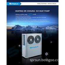 Air to Water Evi Heat Pump for European Household