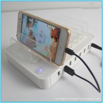Station de recharge de station de recharge de téléphone portable pour le chargeur de port d'USB de restaurants 5