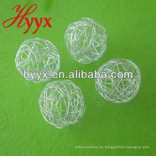 Bola de alambre de Navidad, bola de alambre de plata