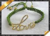 Fashion Bracelet Jewelry, Charms Bracelet, Rhinestone Love Connector Bracelet (LW001)