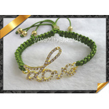 Fashion Bracelet Jewelry, Charms Bracelet, Rhinestone Love Connector Bracelet (LW001)