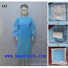 Стерильные одноразовые СМС номера Сплетенный хирургический Поставщик платье Kxt-Sg08
