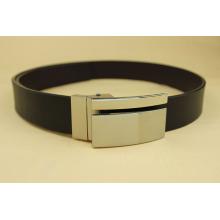 Mens Elegante Black patente Faux Leather Square Buckle Belt Cinto