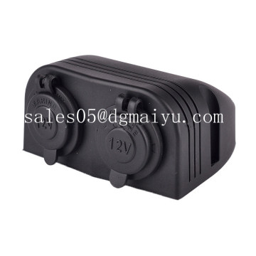 12/24V Car Cigar Lighter Socket with USB Charger Marine Cigarette Lighter