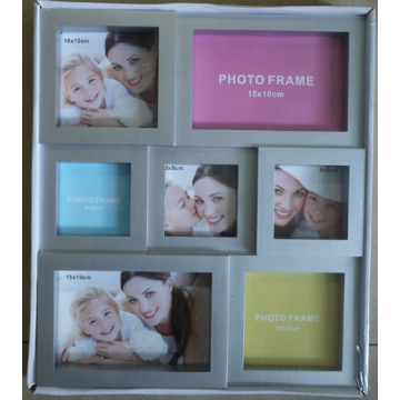 Molduras para fotos Collage Popular prata