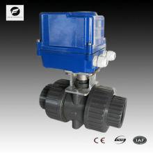 220v PVC vanne à bille motorisée dn40 vis femelle ou bridée