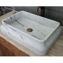 Guangxi rectangle white marble basin