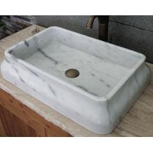 Becken aus weißem Marmor aus Guangxi-Rechteck
