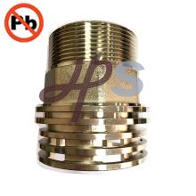 El hilo masculino de cobre amarillo de poco plomo PPR / CPVC inserta al fabricante