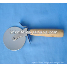 Stainless Steel Pizza Cutter with wooden handle