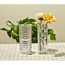 Decoración europea del florero del vidrio cristalino del estilo