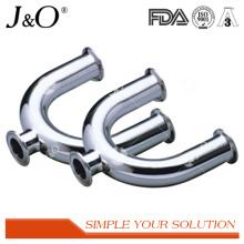 Acessórios de tubulação de tubo de aço inoxidável sanitário em U