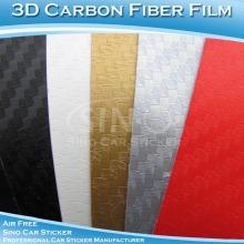 Yüksek polimer 3D Carbon Fiber etiket araba için sarar