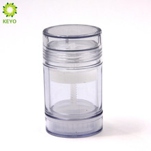 50g Hot sale high quality clear colored empty cosmetic packing deodorant stick container