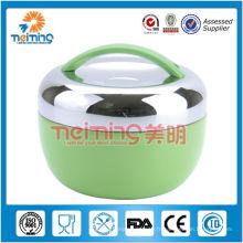 boîte à bento thermos colorée en acier inoxydable empilable