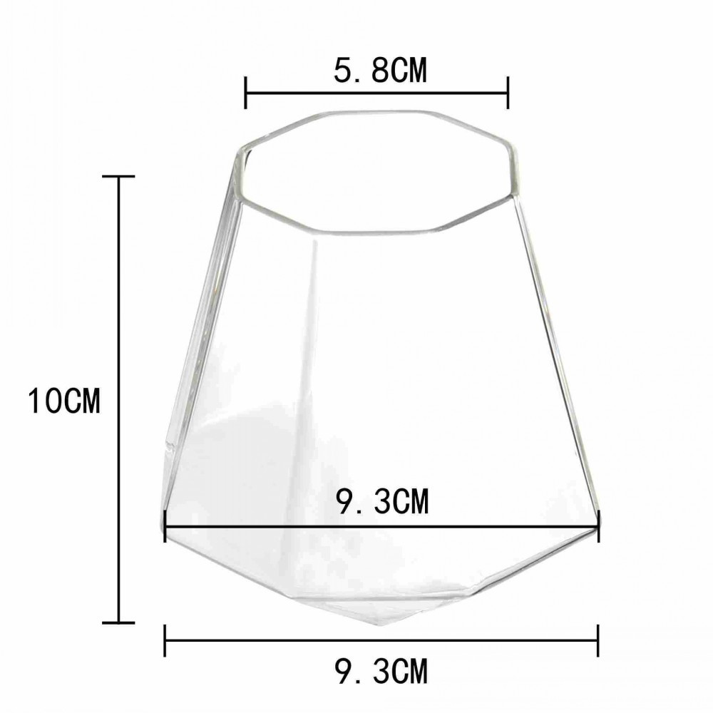 Diamond Glass Mugs For Wine