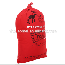 Nouvelle mode rouge couleur Noël cordon sac décoratif toile de coton sac d'arbre de Noël