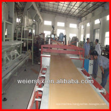 Qingdao weier 3-30mm thickness wpc foam board machine