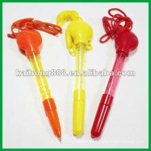 Plástico ponto caneta com corda
