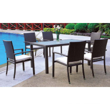 Garden Hotel Dining Set Wicker Furniture Dining Armchair and Table