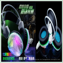 Professional LED Game Headphone para PC portátil Skype Gamer