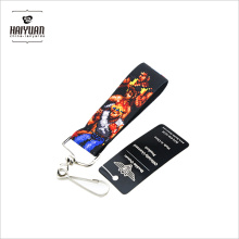 Kundenspezifische elastische kurze Riemen Schlüssel Lanyard Armbänder