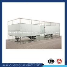 Profil en aluminium de haute qualité pour partition de bureau