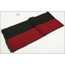 Men′s Womens Unisex 2-Tone Reversible Cashmere Feel Winter Warm Thick Knitted Woven Scarf (SP825)