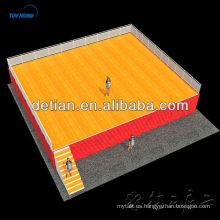 escenario de madera, plataforma escénica, escenario de conciertos de Shangai