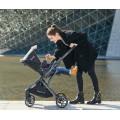 Système de voyage de qualité petite poussette de luxe pliable réversible bébé avec nacelle