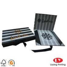Selo de logotipo de caixa de presente de papelão dobrável de luxo