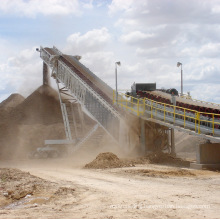 Portable Rubber Belt Conveyor for Mining, Quarry, Power, Port