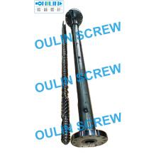 90 mm L / D = 33 Tornillo y barril de tubería de PE