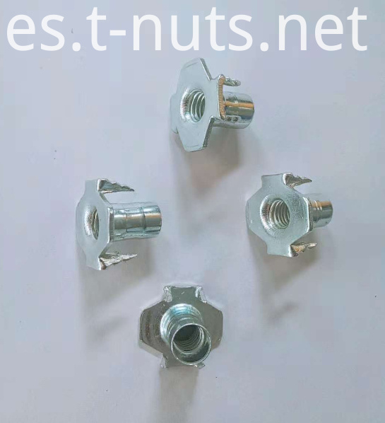 Zinc plated Pour tooth Tee nut