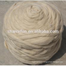 Top blanc de laine de mouton chinois de ventes d'usine