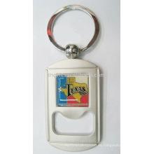 Llaveros de apertura de botella de metal de diseño de moda con epoxi
