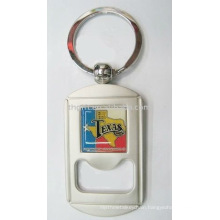 Fashion design metal bottle opener keychains with epoxy