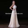 ОЕМ кружева цветок длинные вечерние Свадебные партии платья из бисера вечернее платье