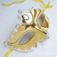 Meia face masquerade máscara princesa show barato partido máscaras
