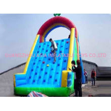 Inflatable Amusement Park Games 7m Blue Rock Climbing Mountain For Kids